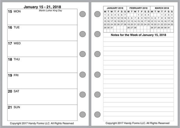FPK Weekly Planner, 2 Pages per Week, 2 Pages per Month, No Lines (Style E)
