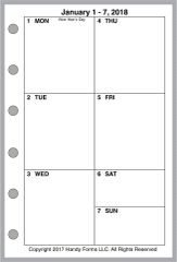 FPK Weekly Planner, 1 Page per Week, 2 Pages per Month, No Lines (Style B)
