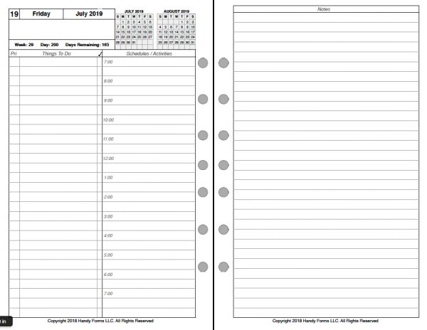 FCS Daily Planner, 2 Pages per Day, 3 Pages per Month (Style A)
