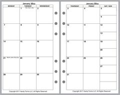 FCC Monthly Planner, 2 Pages per Month, No Lines