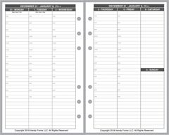 FCC Weekly Planner, 2 Pages per Week, 2 Pages per Month, with Appt Times, Style V