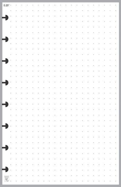 """LVJ Dot Grid Paper 0.25"""""""