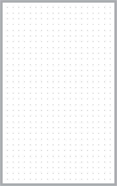 "Pad - Dot Grid Paper (.25"" Grid Spacing) 5"" x 8"""