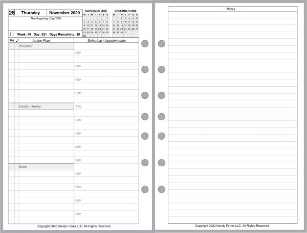 FCS Daily Planner, 2 Pages per Day, 6 Pages per Month (Style A Special)