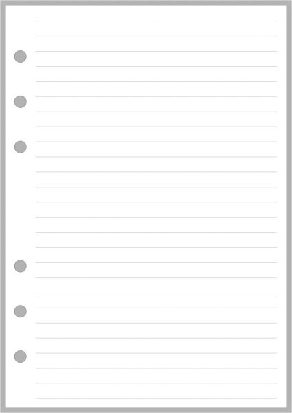PW Lined Note Paper - Personal Wide