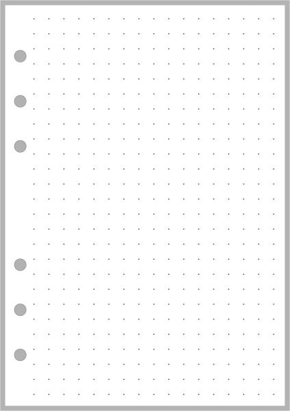 "PW Dot Grid Paper (0.25"" grid) - Personal Wide"