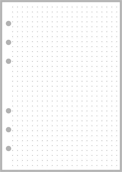 PW Dot Grid Paper (5mm grid) - Personal Wide