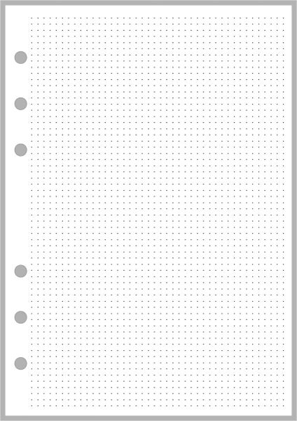 "PW Dot Grid Paper (0.1"" grid) - Personal Wide"