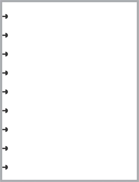 HPC Happy Planner Classic Size Blank Paper