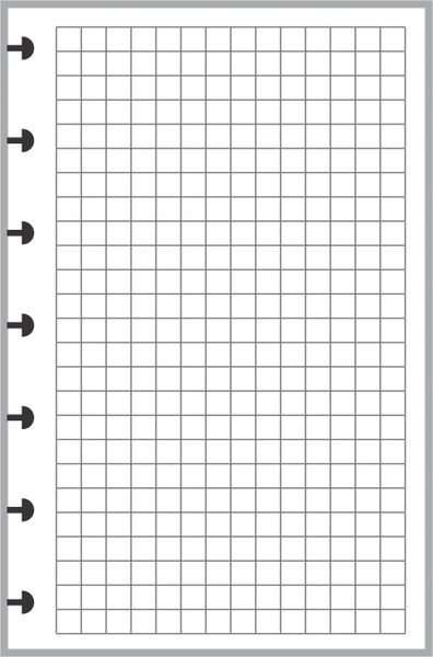 HPM Happy Planner Mini size Graph Paper - 50 or 200 Sheets