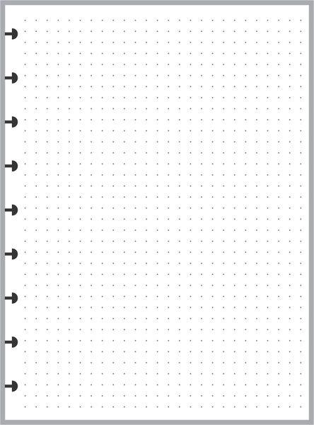 "HPC Happy Planner Classic Size Dot Grid Paper (1/4"")"