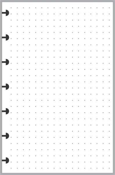 "HPM Happy Planner Mini size Dot Grid Paper (1/4"")"