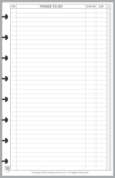 LVJ To-Do List with Priorities and Due Dates