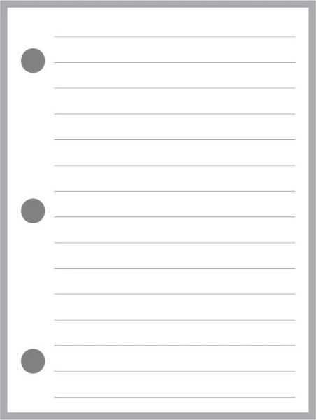 HFN Lined Note Paper
