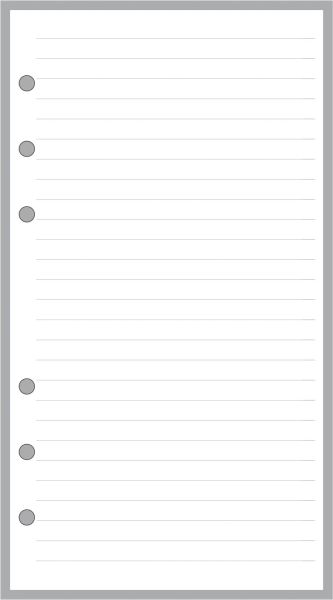 3.25 x 6.25 Simple LIned Pages