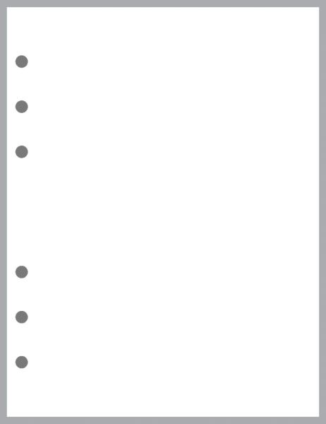 B6 Wide Blank Pages