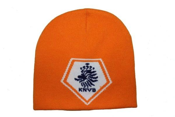 HOLLAND ORANGE KNVB LOGO FIFA SOCCER WORLD CUP TOQUE HAT .. HIGH QUALITY .. NEW