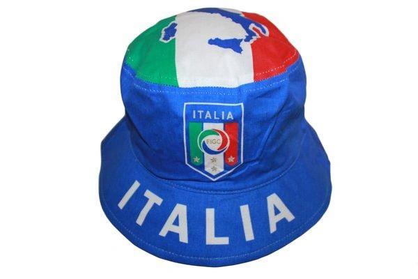 ITALIA ITALY BLUE FIGC LOGO FIFA SOCCER WORLD CUP BUCKET HAT CAP .. HIGH QUALITY .. NEW