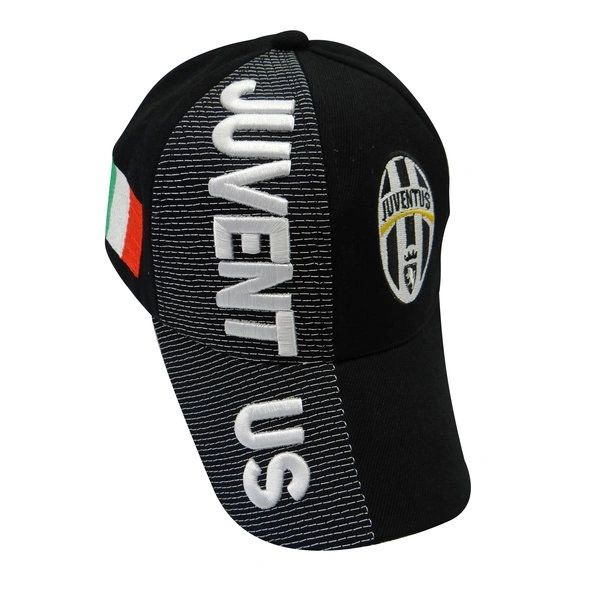 JUVENTUS BLACK COUNTRY FLAG WITH LOGO FIFA SOCCER WORLD CUP EMBOSSED HAT CAP .. HIGH QUALITY .. NEW