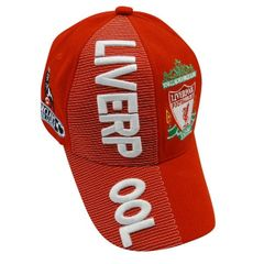 LIVERPOOL RED WITH LOGO SOCCER EMBOSSED HAT CAP .. HIGH QUALITY .. NEW