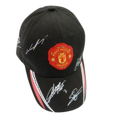 MANCHESTER UNITED WITH RED LOGO SOCCER EMBOSSED HAT CAP .. HIGH QUALITY .. NEW