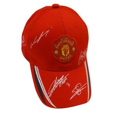 MANCHESTER UNITED RED WITH LOGO SOCCER EMBOSSED HAT CAP .. HIGH QUALITY .. NEW
