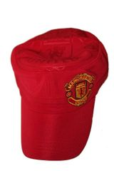 MANCHESTER UNITED RED WITH LOGO SOCCER MILITARY STYLE HAT CAP .. HIGH QUALITY .. NEW