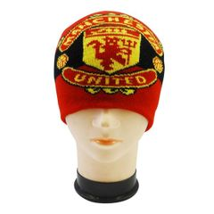 MANCHESTER UNITED BLACK RED WITH LOGO SOCCER TOQUE HAT .. HIGH QUALITY .. NEW