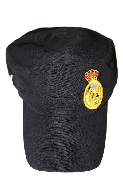 REAL MADRID WITH LOGO SOCCER MILITARY STYLE HAT CAP .. NEW