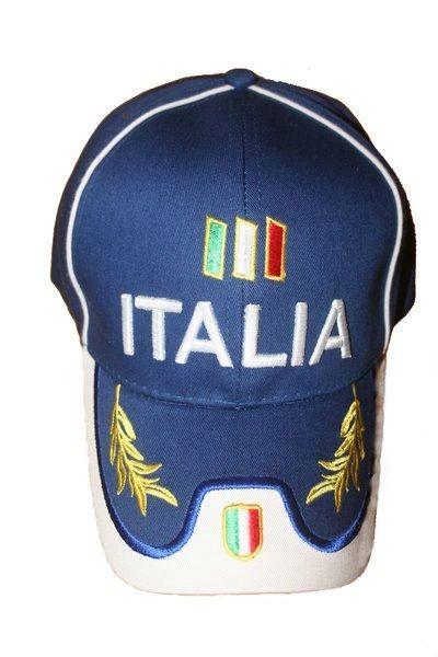 ITALIA BLUE COUNTRY FLAG ON BRIM EMBOSSED HAT CAP .. NEW