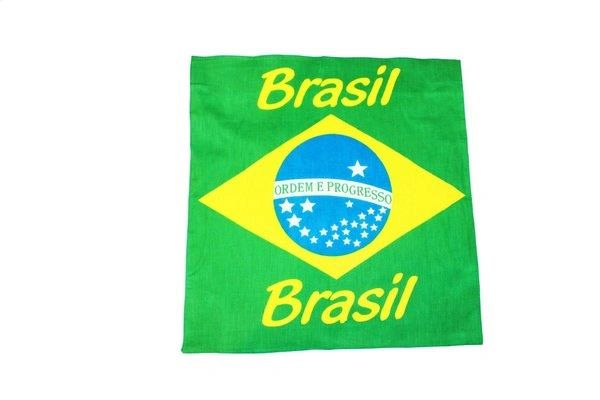 "BRAZIL BRASIL COUNTRY FLAG 21"" X 21"" INCHES BANDANA .. NEW"