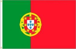 PORTUGAL LARGE 3' X 5' FEET COUNTRY FLAG BANNER .. NEW AND IN A PACKAGE