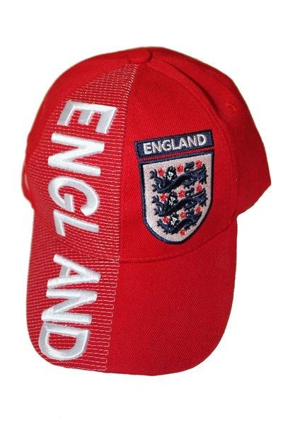 ENGLAND RED 3 LIONS EMBOSSED HAT CAP .. NEW