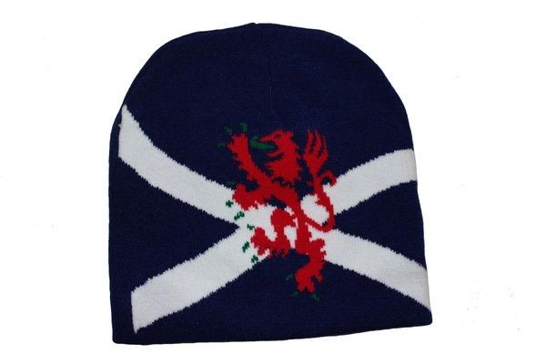 SCOTLAND BLACK COUNTRY FLAG WITH LION TOQUE HAT .. NEW