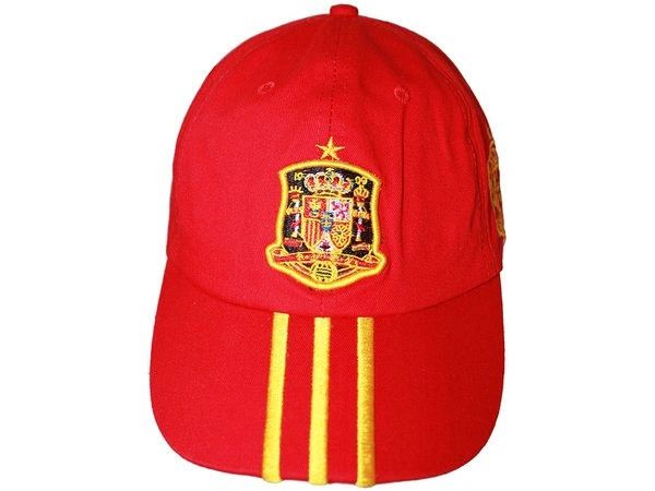 SPAIN RED WITH YELLOW STRIPES EMBOSSED HAT CAP .. NEW