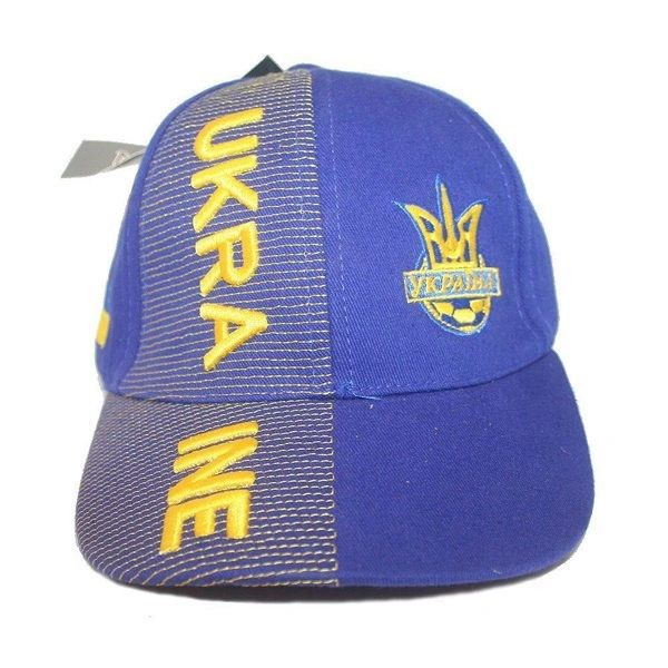 UKRAINE BLUE WITH TRIDENT EMBOSSED HAT CAP .. FOR KIDS : 6 - 10 YRS OLD .. NEW