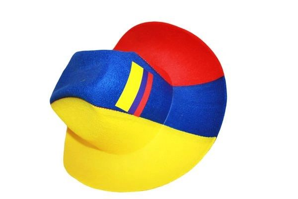 COLOMBIA YELLOW BLUE RED COUNTRY FLAG COWBOY STYLE HAT .. NEW