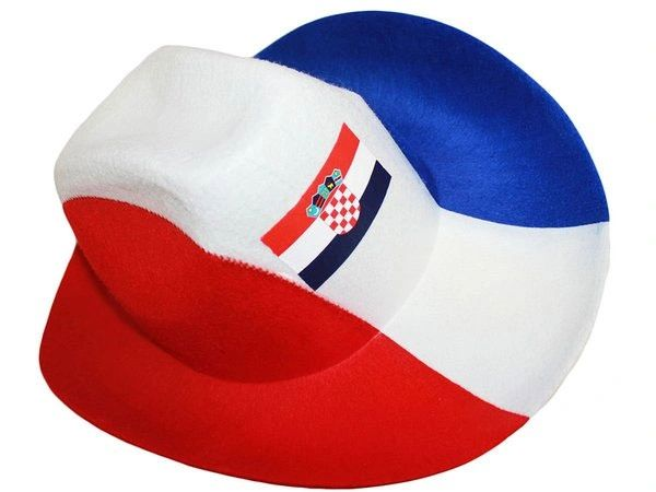 CROATIA RED WHITE BLUE COUNTRY FLAG COWBOY STYLE HAT .. NEW