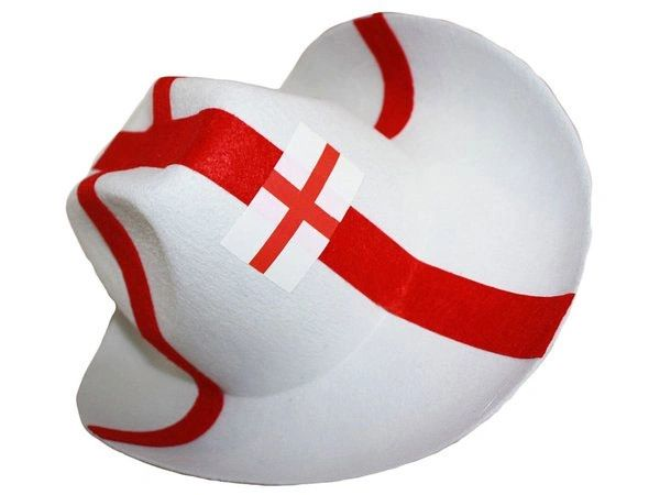 ENGLAND RED WHITE COUNTRY FLAG COWBOY STYLE HAT .. NEW