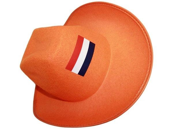 NETHERLANDS ORANGE COUNTRY FLAG COWBOY STYLE HAT .. NEW