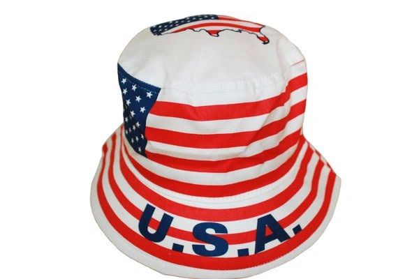 USA COUNTRY FLAG BUCKET HAT CAP .. NEW