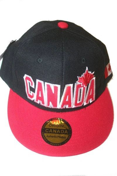 CANADA BLACK RED WITH LEAF HIP HOP HAT CAP .. NEW