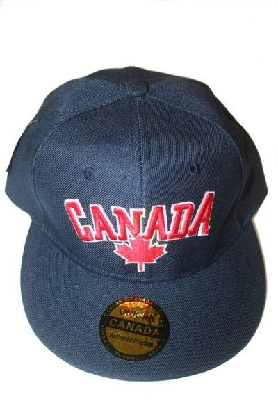 CANADA BLUE WITH LEAF HIP HOP HAT CAP .. NEW