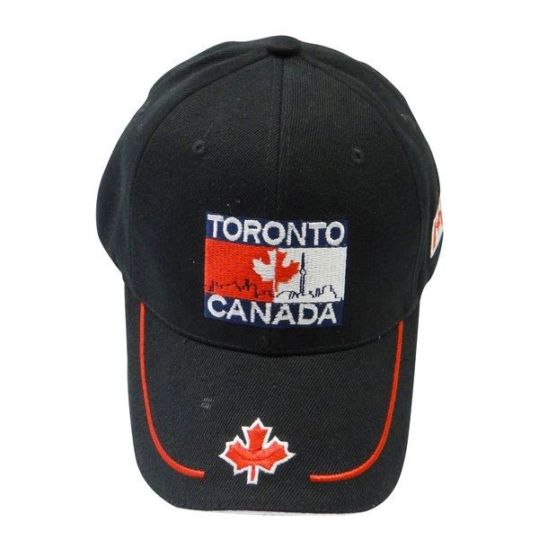 TORONTO - CANADA BLACK EMBOSSED HAT CAP .. NEW