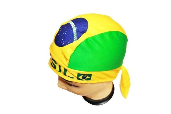 BRASIL COUNTRY FLAG FIGC LOGO FIFA SOCCER WORLD CUP DOO RAG HAT .. NEW