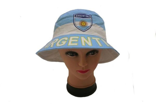 ARGENTINA COUNTRY FLAG BUCKET HAT CAP .. NEW