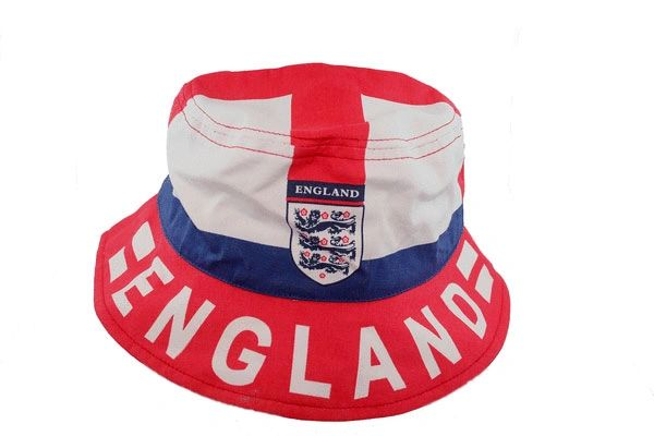ENGLAND COUNTRY FLAG WITH 3 LIONS BUCKET HAT CAP ..For Kids ..Size : 54.. NEW