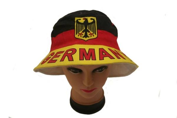 GERMANY COUNTRY FLAG WITH EAGLE BUCKET HAT CAP .. NEW