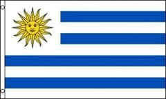 URUGUAY LARGE 3' X 5' FEET COUNTRY FLAG BANNER .. NEW AND IN A PACKAGE