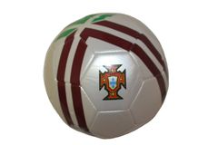 PORTUGAL WHITE WITH GREEN & BROWN STRIPES FIFA WORLD CUP SOCCER BALL SIZE 5 .. NEW AND IN A PACKAGE